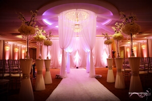 wedding ceremony at Astoria Banquets