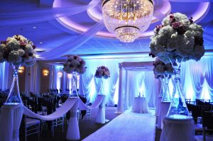 Astoria Banquets, Wedding Venue, Best of Banquets Halls, Wedding Wire, Knot, Event Space, Chicago and Suburbs, formal ceremony space with decorations